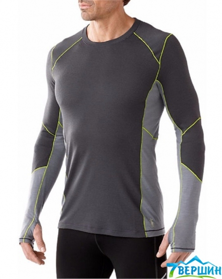 Кофта Smartwool Men's PHD Light Long Sleeve Shirt graphite (SW SO932) - интернет магазин 7вершин