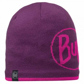 BUFF Knitted & Polar Hat Logo plum - интернет магазин 7вершин