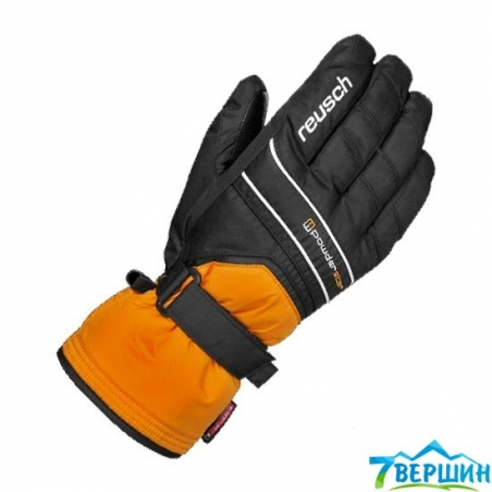 Перчатки Reusch Powderstar R-TEX XT orangepop./black - интернет магазин 7вершин