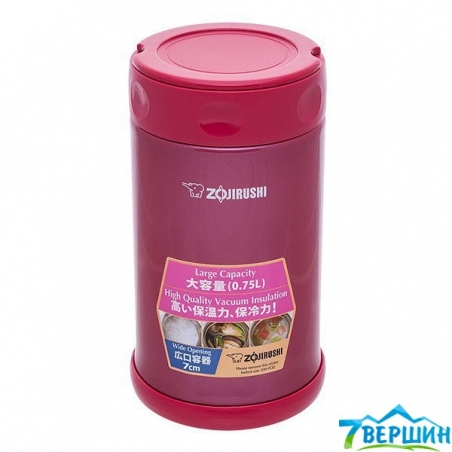 Термос пищевой Zojirushi Stainless Steel Food Jar SW-FCE75PJ 0.75 л (1678.03.57) - интернет магазин 7вершин