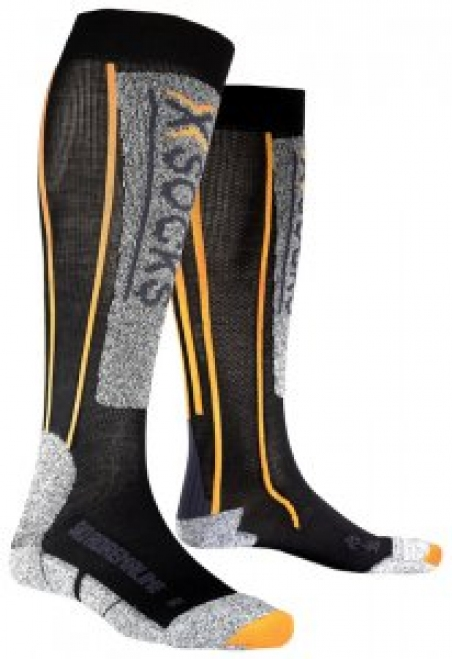 Термоноски X-SOCKS Ski Adrenalin (X20023-X39) Black / Orange - интернет магазин 7вершин