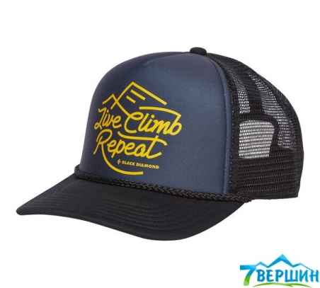 Кепка Black Diamond Flat Bill Trucker Hat Carbon/Sulfur (BD AQ3P.9112)  - интернет магазин 7вершин