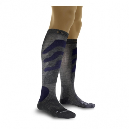 Термоноски X-SOCKS Ski Precision (X20291-X41) Grey-Blue - интернет магазин 7вершин