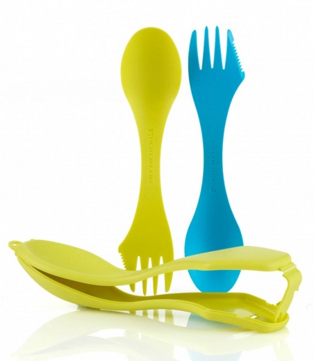 2 ложки в чехле Light My Fire Sporks'n Case Cyan Blue/Lime LMF 41444313 - интернет магазин 7вершин