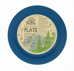 Тарелка Eco Soulife LARGE DINNER PLATE 22.5см navy (BW11-001-NAV)