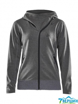 Женская кофта Craft Sports Fleece Assymetric Woman grey melange (Cr 1908010.975000)