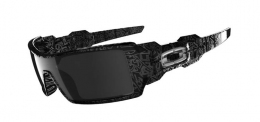 Очки Oakley Oil Rig Polished Black Silver Ghost Test Black Iridium (OO24-058)