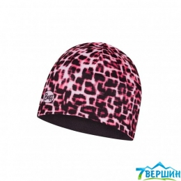 Детская спортивная шапка BUFF JUNIOR MICROFIBER & POLAR HAT savage pink (BU 121651.538)