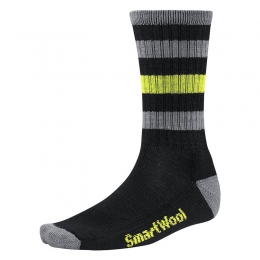 Шкарпетки Smartwool Striped Hike Light Crew black (SW SW141.001)