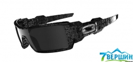 Очки солнцезащитные Oakley OIL RIG POLISHED BLACK SILVER GHOST/BLACK IRIDIUM (OO24-058)