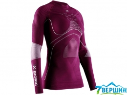 Женская термокофта, термобелье X-bionic Energy Accumulator 4.0 shirt round neck LG SL plum/grey (EA-WT06W19W.V005)