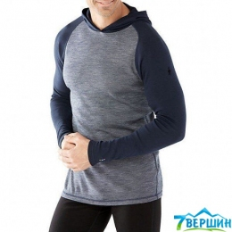 Чоловіча кофта Smartwool Men's Merino 250 Baselayer Pattern Hoody deep navy (SW 14010.092)