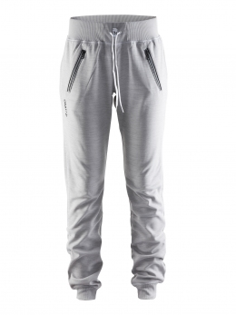 Штаны спортивные женские Craft  In-the-zone Sweatpants Women Grey Melange/White/Black (Cr 1902645.2950)
