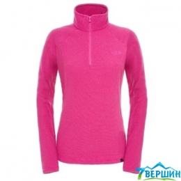 Флис женский The North Face W 100 Glacier 1/4 Zip dramatic plum stripe (TNF T0A6LC.BMV)