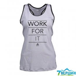 Майка The North Face W Graphic Play Hard Tank EU light grey heather/black (TNF T92XLO.GAU)