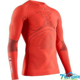 Чоловіча термокофта, термобілизна X-bionic Energy Accumulator 4.0 shirt round neck LG SL orange (EA-WT06W19M.O021)