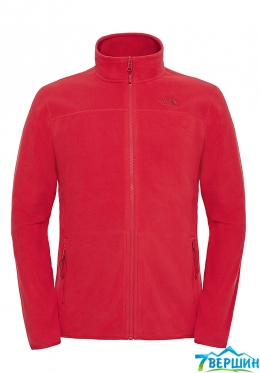 Мужская флисовая кофта The North Face Men's 100 Glacier Full Zip - EU red (TNF T0A6KX.682)