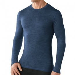 Термобелье мужское, кофта Smartwool Men's NTS Micro 150 Pattern Crew bright blue (SW SN705)