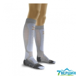 Термошкарпетки гірськолижні X-SOCKS Ski Comfort Supersoft Lady pearl grey / ice blue (X020274.G331)