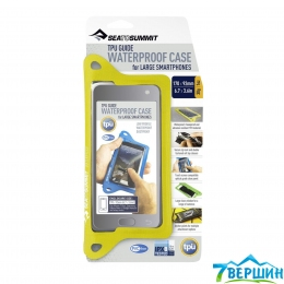 Гермочехол для смартфона Sea To Summit TPU Guide W/P Case for Smartphones XL Lime (STS ACTPUSPXLLI) 17 х 9 см