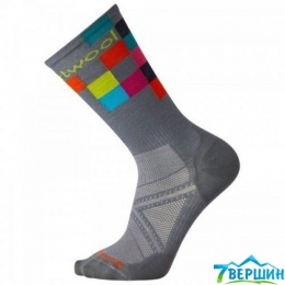 Треккінгові шкарпетки Smartwool Men's PhD Run Ultra Light Logo Crew Graphite (SW 01137.018)