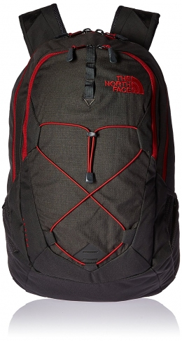 Рюкзак The North Face Jester Asphalt Grey Dark Heather/Cardinal Red