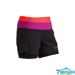 Шорты женские Marmot Wm's Pulse Short black/bright pink (57530.1491)