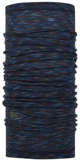 BUFF LIGHTWEIGHT MERINO WOOL denim multi stripes (BU 117819.788.10.00)