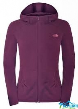 Женская флисовая кофта The North Face W's 100 L/S Masonic Hoodie black purple (TNF T0A3V8.V6V) размер S