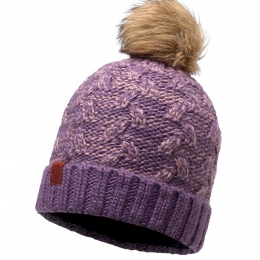BUFF Knitted Polar Neckwarmer Hat Kiam deep grape (BU 116037.604.10)