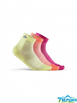 Набор носков, 3 пары Craft Greatness Mid 3-Pack Sock venom/multi ( 1906060.554007 )