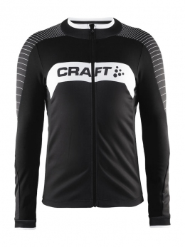 Мужская велокофта, джерси Craft Gran Fondo Jersey LS Man Black/White (Cr 1903988.9900) размер M