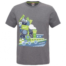 Футболка The North Face S/S NSE Series Tee grey heather p.XL (TNF CD3Z.DYY)