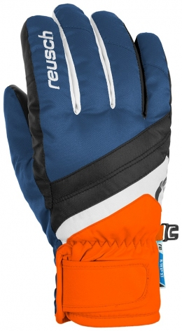 Перчатки горнолыжные Reusch Dario R-TexВ® XT Junior blue/white /orange (4761212.432)