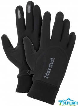 Перчатки женские Marmot Wm's Power Stretch glove black (18400.001)