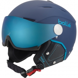Гірськолижний шолом Bolle Backline visor PREMIUM Soft Navy & Cyan with Grey Blue (кат.2) & Lemon (кат.1) Visor
