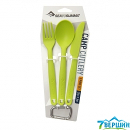 Набор (ложка, вилка, нож) Sea To Summit Camp Cutlery Set Lime (STS ACUTLLI)