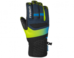 Горнолыжные перчатки Reusch Stuart R-TexВ® XT dress blue / neon green (4701206.469)