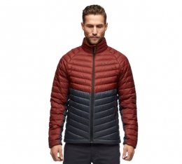 Куртка пуховая мужская Black Diamond M Access Down Jacket, Dark Crimson/Carbon (BD 746083.9163)