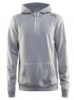Кофта чоловіча Craft In-the-zone Hood Man Grey Melange / White / Black (Cr 1902628.3950)