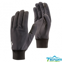 Легкі вітрозахисні рукавиці Black Diamond LightWeight Sofshell Gloves smoke (BD 801046.SMOK)