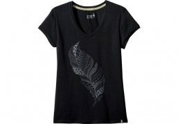 Футболка женская Smartwool W's Merino 150 Feather Tee black (SW 17263.001)