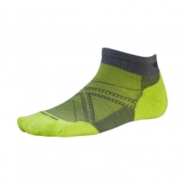 Беговые мужские термоноски Smartwool PHD Run Light Elite Low Cut graphite/smartwool green (SW SW243.170)