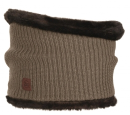 BUFF Knitted Collar Adalwolf brown taupe (BU 1883.316.10)