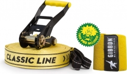Слэклайн Gibbon Classic line X13 XL TREE PRO SET 25 m Slackline Set yellow (GB 13843)