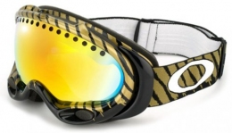 Маска Oakley A Frame Shaun White Signature blk/gold fire iridium (57-362)