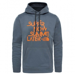 Худи The North Face M Ma Graphic Surgent Hoodie - EU tnf medium grey/orange (TNF T0CE0N.SXF)