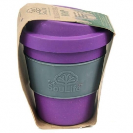 Кружка с крышкой Eco Soulife BIO SIP With Transparent Wrap 335мл berry(ESL BW14-030-BER)