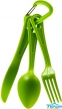 Столовый набор Sea To Summit Polycarbonate Cutlery Set - 3pc (STS ACUTLGN) green
